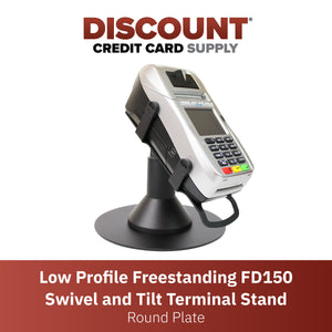 First Data FD150 Low Profile Freestanding Swivel Stand with Round Plate - DCCSUPPLY.COM
