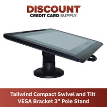 "Load image into Gallery viewer, VESA Bracket with 3"" Compact Pole Mount Terminal Stand - DCCSUPPLY.COM"