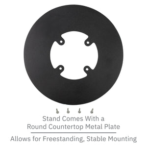 Dejavoo Z3/Z6 Low Profile Black Swivel and Tilt Freestanding Metal Stand with Round Plate
