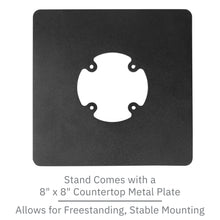 Load image into Gallery viewer, First Data RP10 Low Profile Swivel and Tilt Freestanding Metal Stand with Square Plate - DCCSUPPLY.COM
