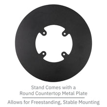 Load image into Gallery viewer, First Data RP10 PIN Pad Freestanding Swivel and Tilt Metal Stand with Round Plate
