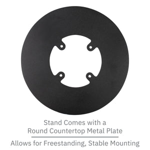 First Data RP10 PIN Pad Freestanding Swivel and Tilt Metal Stand with Round Plate