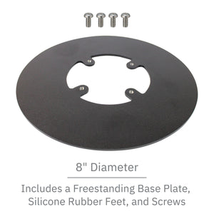 Freestanding Round Base Plate - Black - DCCSUPPLY.COM