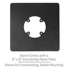 Load image into Gallery viewer, First Data FD35/ FD40 Low Profile Swivel and Tilt Freestanding Metal Stand with Square Plate - DCCSUPPLY.COM