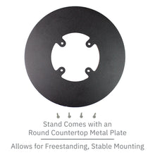 Load image into Gallery viewer, First Data FD150 Low Profile Freestanding Swivel Stand with Round Plate