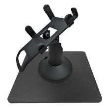 Load image into Gallery viewer, Dejavoo Z3/Z6 Low Profile Black Swivel and Tilt Freestanding Metal Stand with Square Plate - DCCSUPPLY.COM
