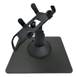 Dejavoo Z3/Z6 Low Profile Black Swivel and Tilt Freestanding Metal Stand with Square Plate - DCCSUPPLY.COM