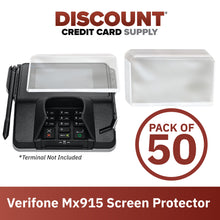 Load image into Gallery viewer, Verifone Mx915 Screen Protective Spill Covers (Set of 50)