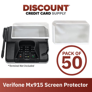Verifone Mx915 Screen Protective Spill Covers (Set of 50)