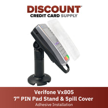 "Load image into Gallery viewer, Verifone Vx805 7"" Pole Mount Terminal Stand and Full Device Protective Cover - DCCSUPPLY.COM"
