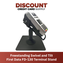 Load image into Gallery viewer, First Data FD130/ FD150 Freestanding Swivel and Tilt Metal Stand - DCCSUPPLY.COM