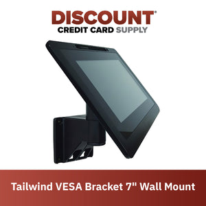 "VESA Bracket with 7"" Wall Mount Terminal Stand"