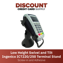 Load image into Gallery viewer, Ingenico ICT 220/250 Low Profile Swivel and Tilt Metal Stand