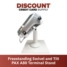 Load image into Gallery viewer, PAX A80 White Freestanding Swivel and Tilt Metal Stand