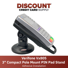 "Load image into Gallery viewer, Verifone Vx805 3"" Compact Pole Mount Terminal Stand - DCCSUPPLY.COM"