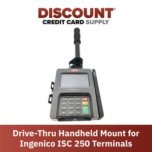 Drive-Thru Hand Held Bracket/Mount for Ingenico ISC 250 - DCCSUPPLY.COM