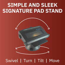 Load image into Gallery viewer, Topaz Signature Pad Low Profile Swivel and Tilt Metal Stand - DCCSUPPLY.COM