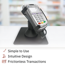 Load image into Gallery viewer, Verifone Vx520 Low Profile Swivel and Tilt Freestanding Metal Stand