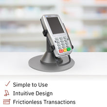 Load image into Gallery viewer, Verifone Vx820 Low Profile Freestanding Swivel Stand with Round Plate