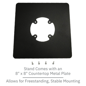PAX S300 / SP30 Low Profile Swivel and Tilt Freestanding Metal Stand with Square Plate - DCCSUPPLY.COM