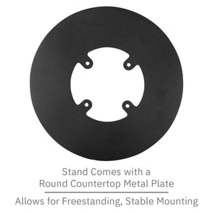 Verifone Vx820 Low Profile Freestanding Swivel Stand with Round Plate - DCCSUPPLY.COM