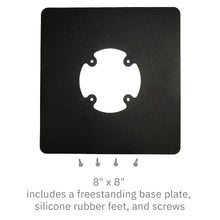 Load image into Gallery viewer, Freestanding Square Base Plate - Black