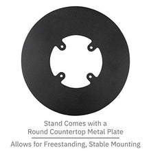 Load image into Gallery viewer, Ingenico Move/5000 Freestanding Swivel and Tilt Metal Stand with Round Plate - DCCSUPPLY.COM