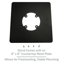 Load image into Gallery viewer, Verifone Mx915 / Mx925 Freestanding Swivel and Tilt Metal Stand with Square Plate - DCCSUPPLY.COM