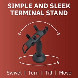 Castles VEGA3000 Touch PIN Pad Swivel and Tilt Metal Stand - DCCSUPPLY.COM