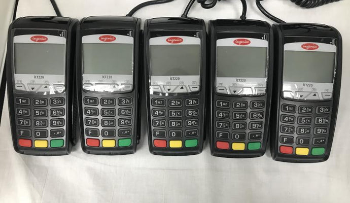 Ingenico ICT 220 DC EMV Credit Card Terminal-V3-Set of 5 - Refurbished