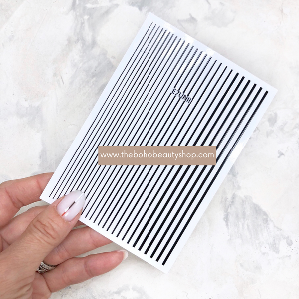 Black Stripes Stickers