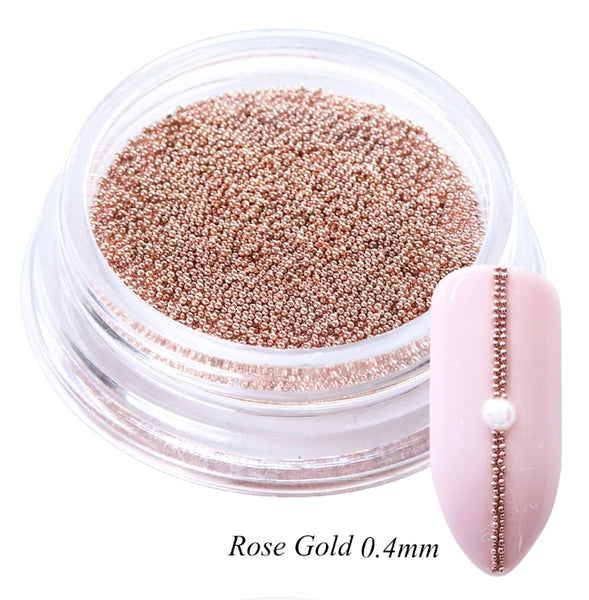 Rose Gold Caviar Beads 0.4MM