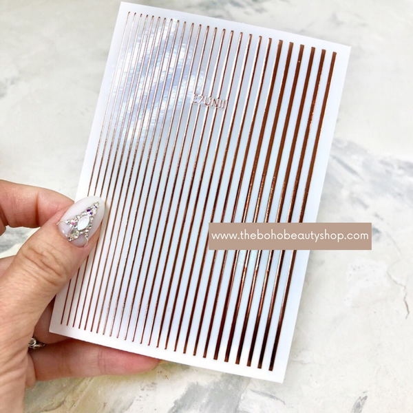 Rose Gold Stripes Stickers