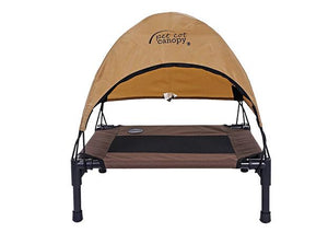 Washable outdoor raised  large dog bed with tent