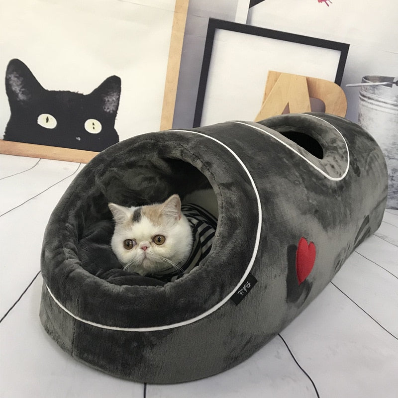 Comfortable Tunnel Cat Bed - Nest
