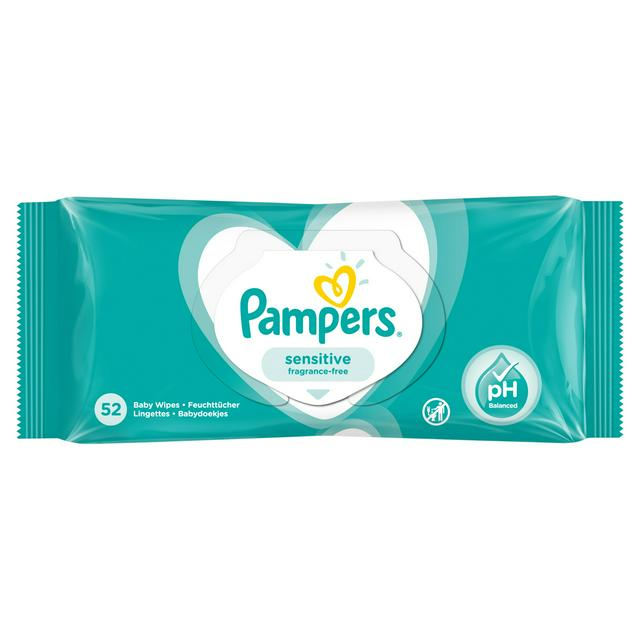 Pampers Sensitive 52 Wipes