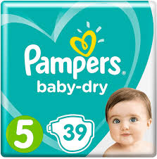 Pampers baby dry  essential pack size 5 (39 pack)