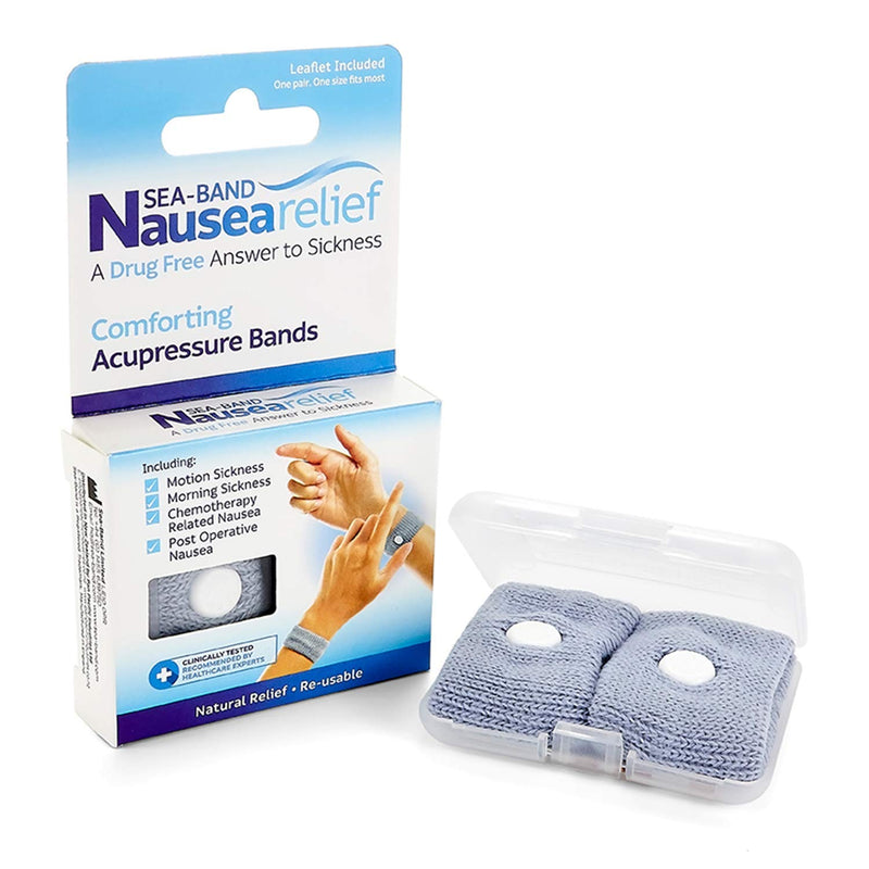 Sea band nausea relief comforting acupressure band - one pair