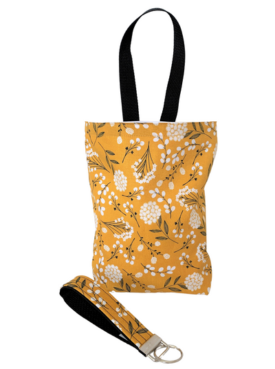 Mustard Floral Steering Wheel Cover - Comfy Wheel Cover