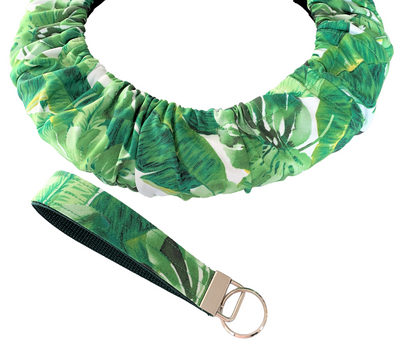 Tropical Leaves Steering Wheel Cover - Comfy Wheel Cover