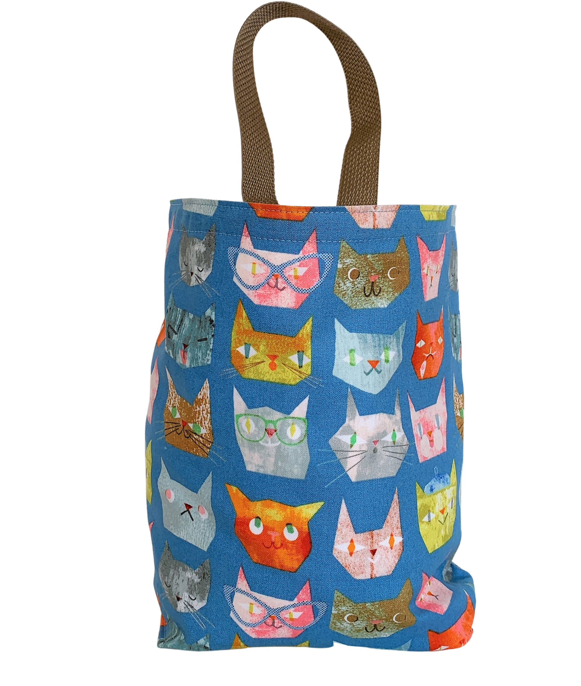 Cats on Blue Car Trash Bag