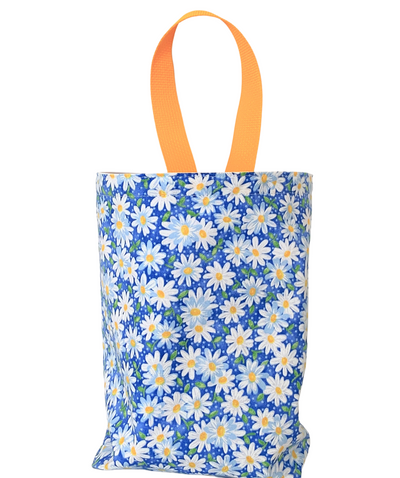 Daisy Blue Car Trash Bag -  Car Accessory - Soft Reusable Garbage Bag Wipe Clean Lining