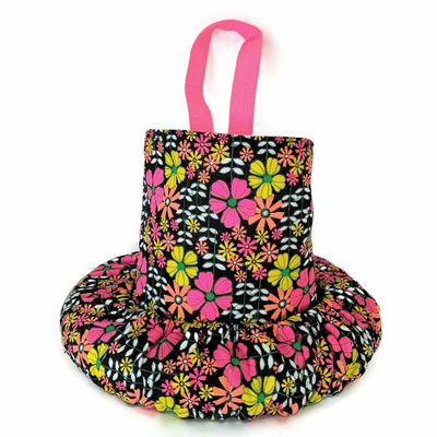 Floral Neon Steering Wheel Cover