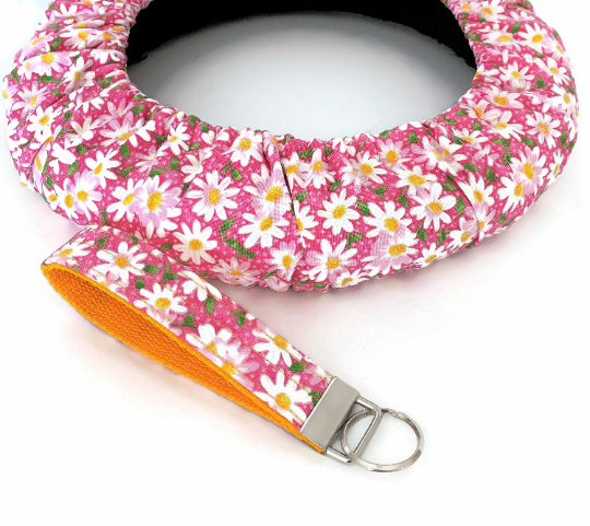 Daisy Pink Steering Wheel Cover