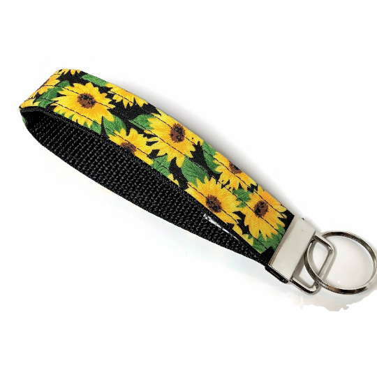 Sunflower Mini Key Chain Wristlet