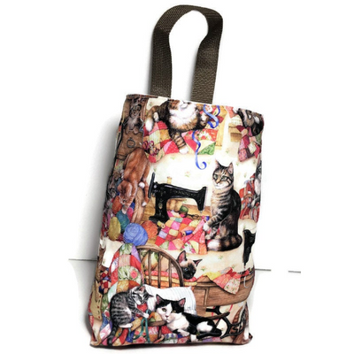 Kitties Sewing Car Trash Bag - Car Accessory - Soft Multipurpose Garbage Bag Wipe Clean Lining