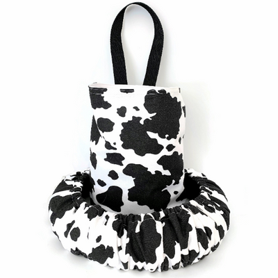 Cow Black and White Print Steering Wheel Cover