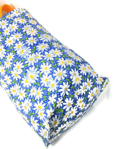 Daisy Blue Car Trash Bag-Waterproof Garbage  Bag-Daisy  Car Accessory-Floral Trash Bag