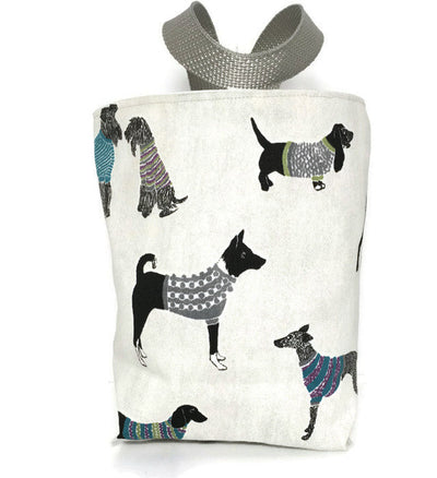 Dogs in Sweaters Car Trash Bag - Car Accessory - Reusable  Lined  Garbage Bag for Cars - Soft Bag