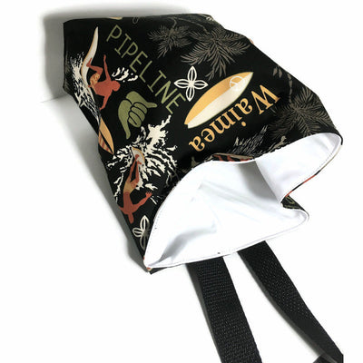 Surfing Car Trash Bag - Garbage Bag With Strap, Wipe Clean Lining - Soft Bag